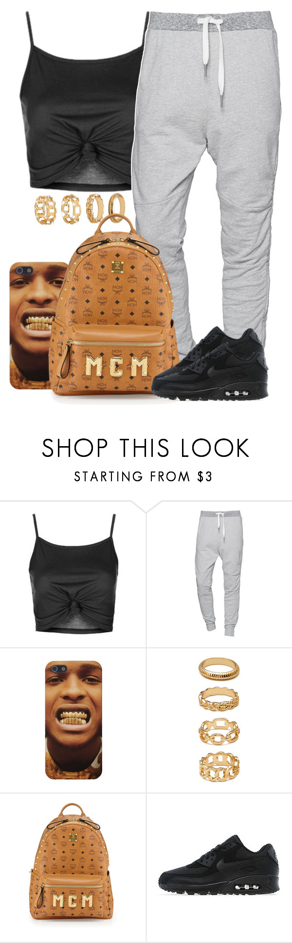 """Sans titre #352"" by lesliekabengele on Polyvore featuring mode, Topshop, True Religion, Forever 21, MCM et NIKE"