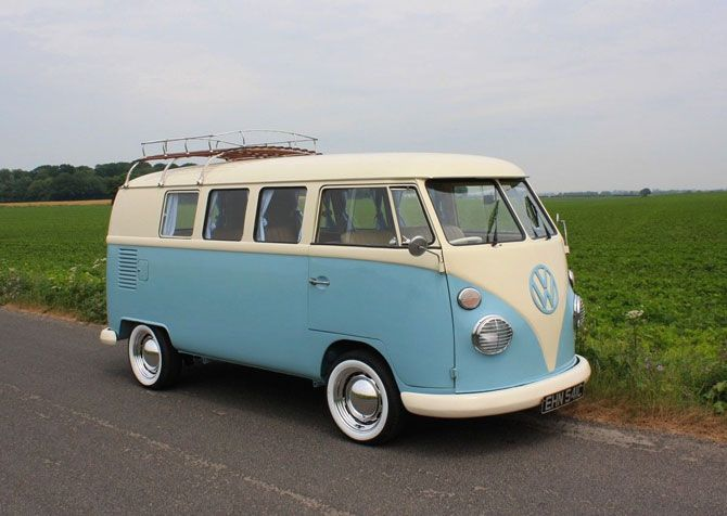 Fully Restored 1965 Vw Split Screen Camper Van On Ebay Camper