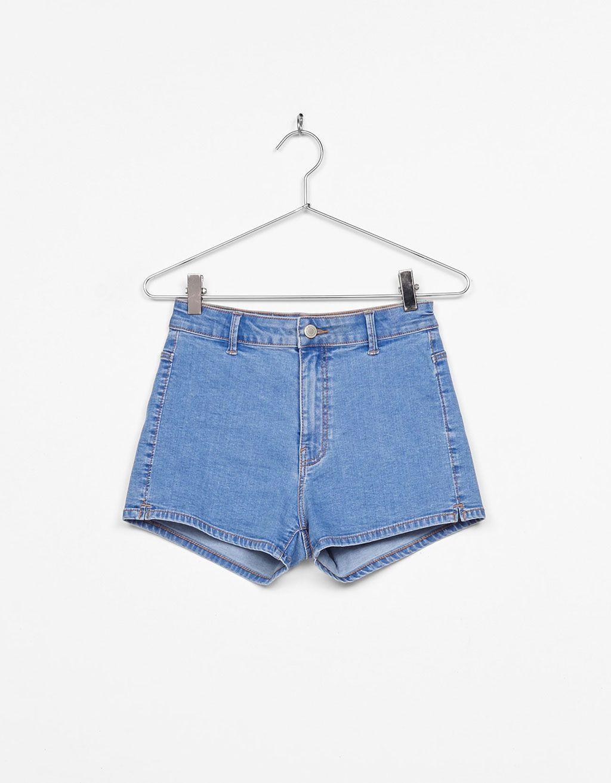 6c60ecf43ef0 High rise denim shorts | Ubrania | Bershka, Ropa y Pantalones cortos