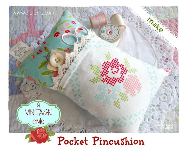 Needle Pincushion Pin Cushion Pillow with Storage Case for Stitching Sewing