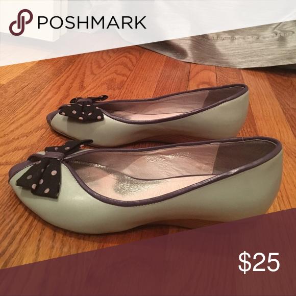 Bow Tie Polka Dot Flats Bow Tie Polka Dot Flats Chocolat Blu Shoes Flats & Loafers