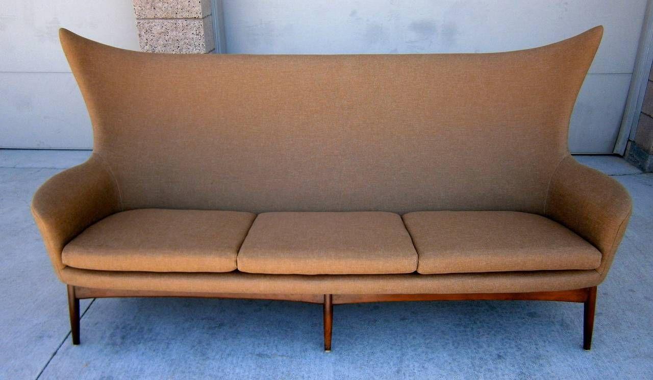 Captivating Sculptural Sofa Designed By H.W. Klein For Bramin Mobler Of Denmark Circa  1950s