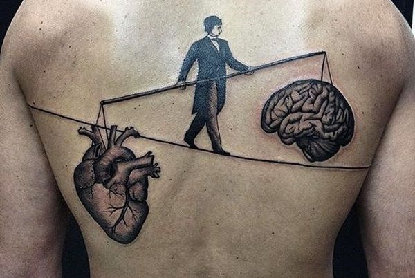 Image result for heart and mind balance tattoo
