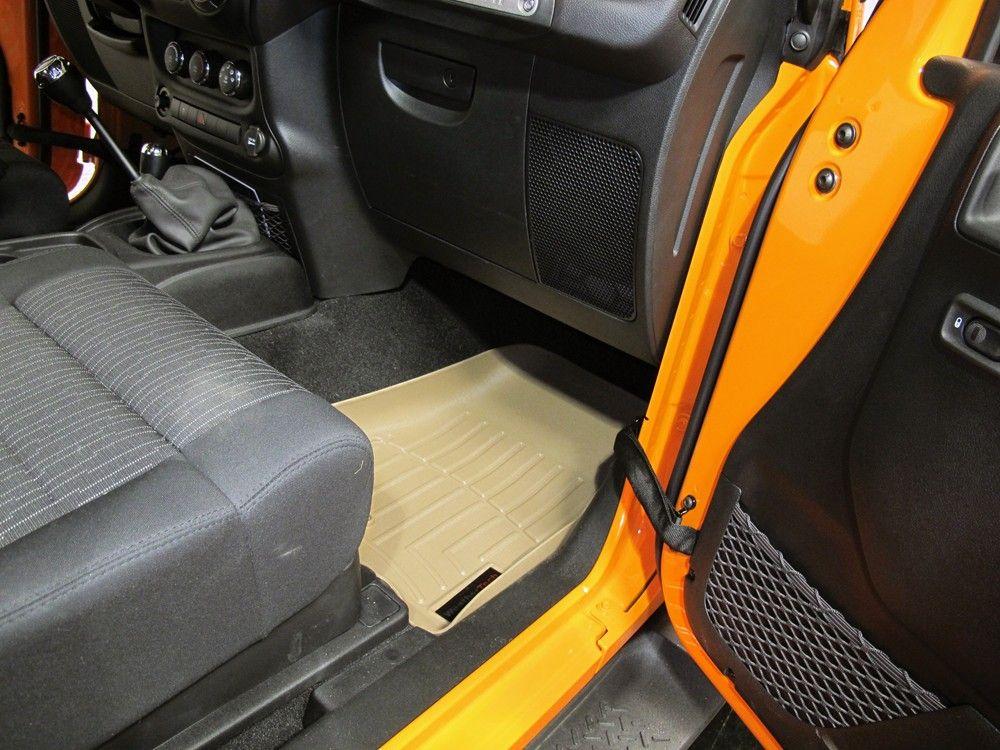 Weathertech Front Auto Floor Mats Tan Weathertech Floor Mats Wt451051 Tan Jeep Wrangler Weather Tech Floor Mats 2012 Jeep Wrangler