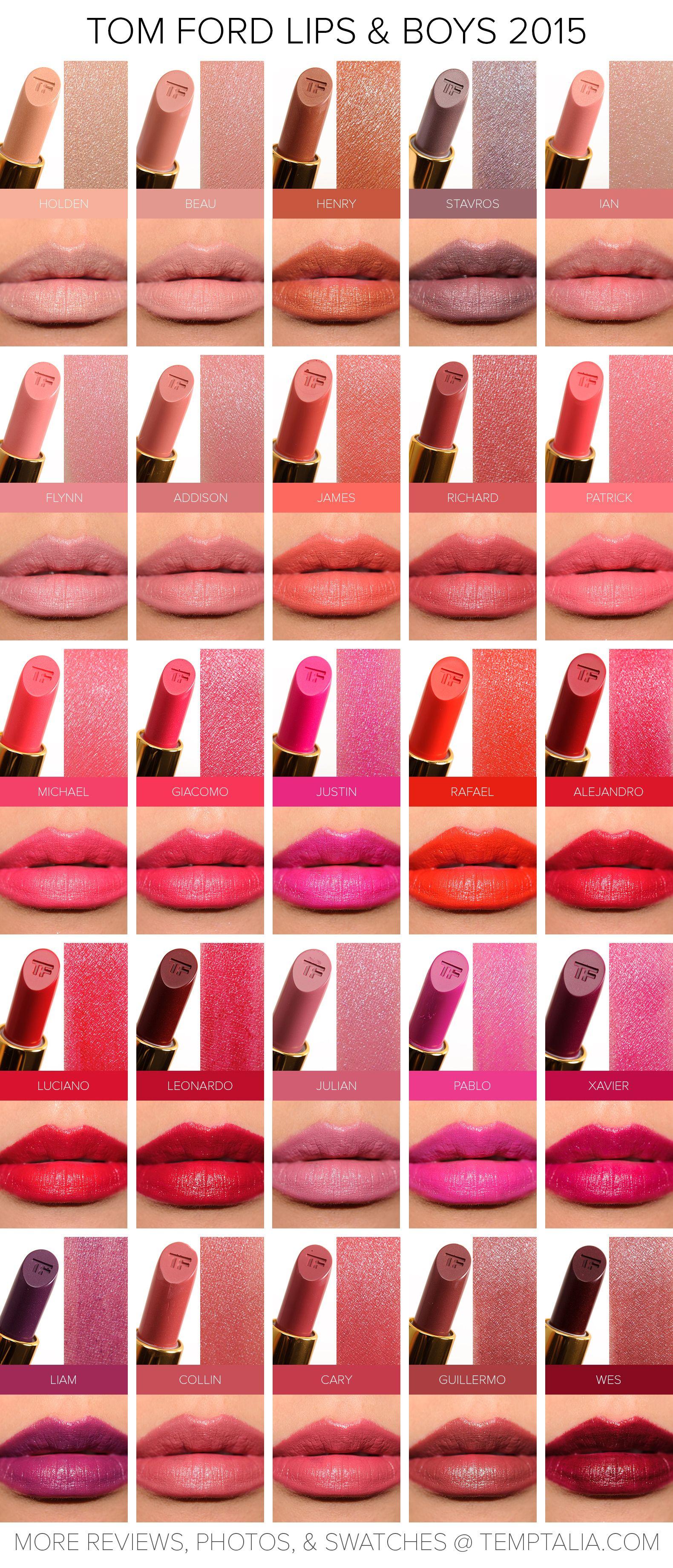 Swatches Of Colourpop Martian Helium And Utopia Tie Dye: Sneak Peek: Tom Ford Lips & Boys 2015 Swatches & Photos