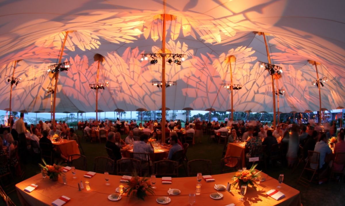 Tent Ceiling Light Projection // Sperry Tents Southeast // Skyline Tent Company : skyline tents - memphite.com