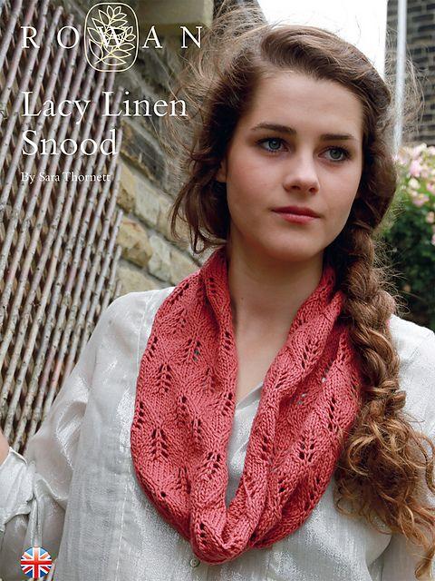 Knitting Patterns Galore Lacy Linen Snood Knitting Pretty