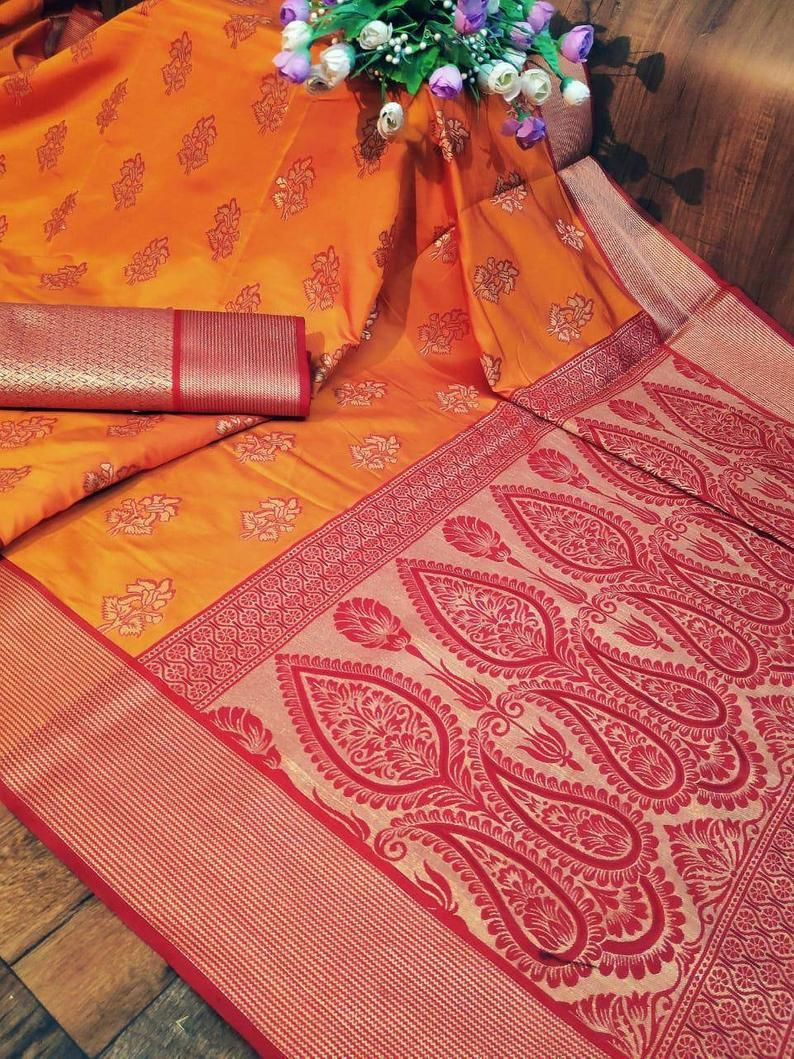 Pure soft silk with blouse weaving jequard