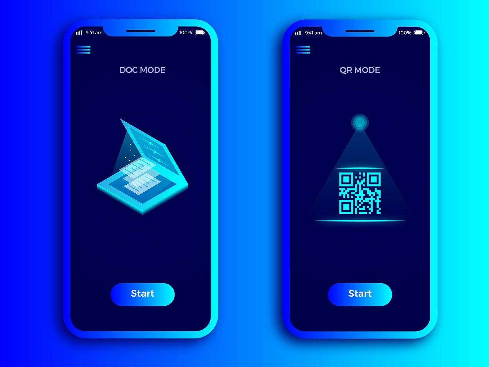 Scanner App UIX Design Scanner app, Ios app design, Web