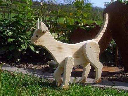 holzwurm - kreatives für haus und garten - holz-tiere | cats, Garten und erstellen
