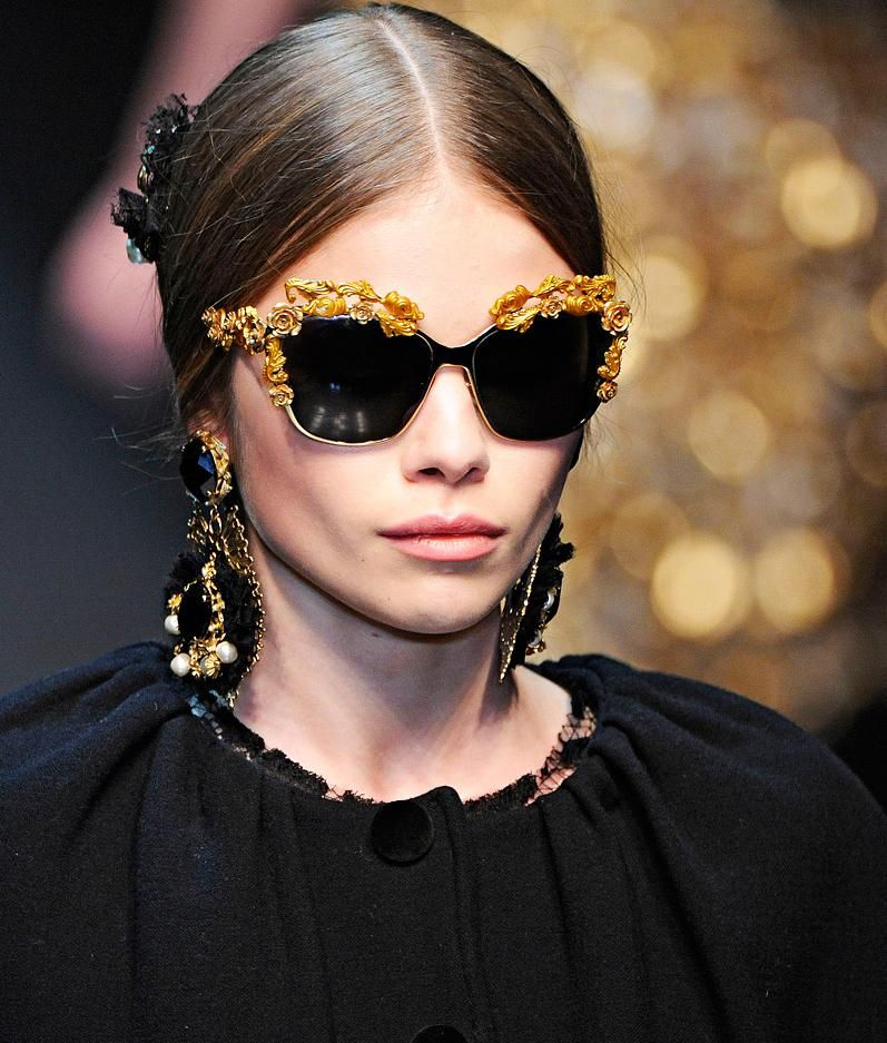 4bb2da84caac Dolce   Gabbana Sunglasses Fall 2012 Womenswear .