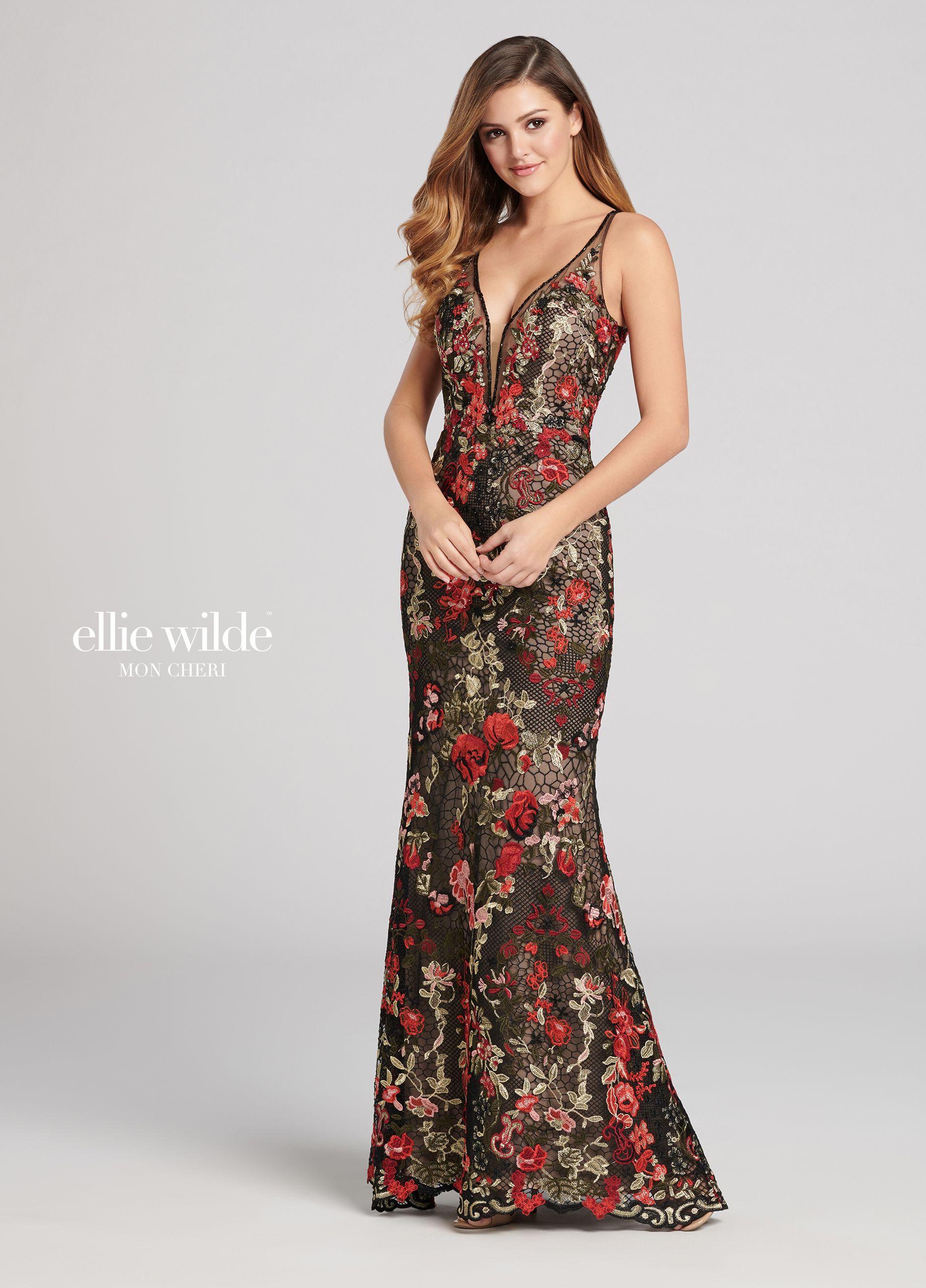 Multicolored lace fit u flare prom dress ew in dinki