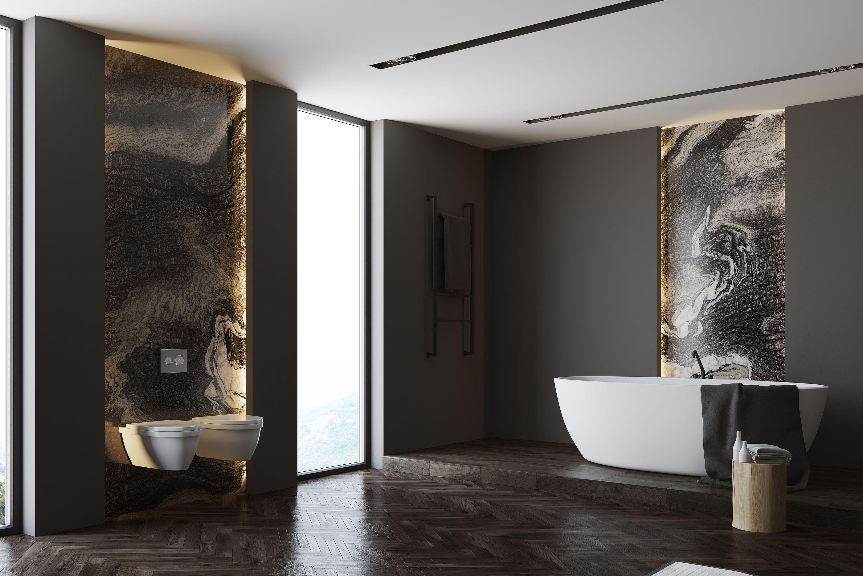 Extra Modern Black Marble Bathroom Green House Design Black Marble Bathroom Small House Interior Design