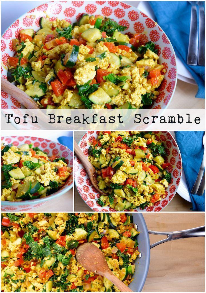 Tofu Breakfast Scramble Vegan Dishes Vegan Recipes Vegetarian Dishes