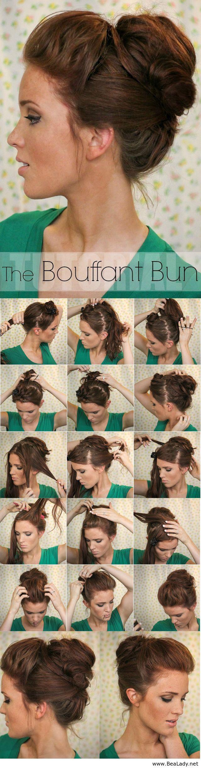 Fashionable hairstyle tutorials for long thick hair bun updo bun