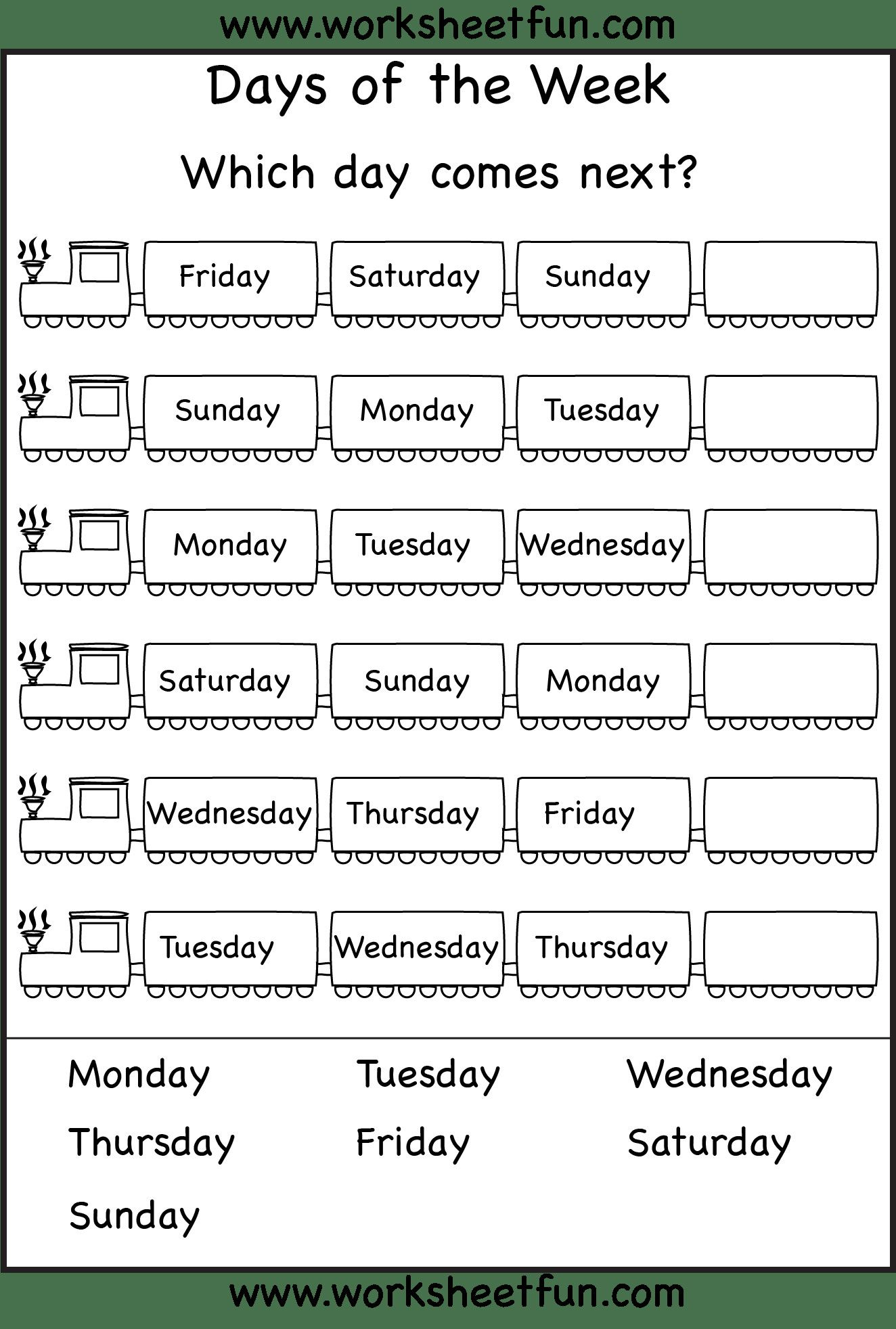 2 Calendar Print Out Worksheets For Kindergarten In