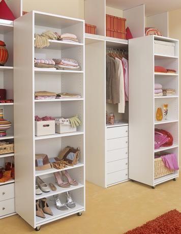 Deep Narrow Closet Solution Roll Out Shelves Hanging Bar