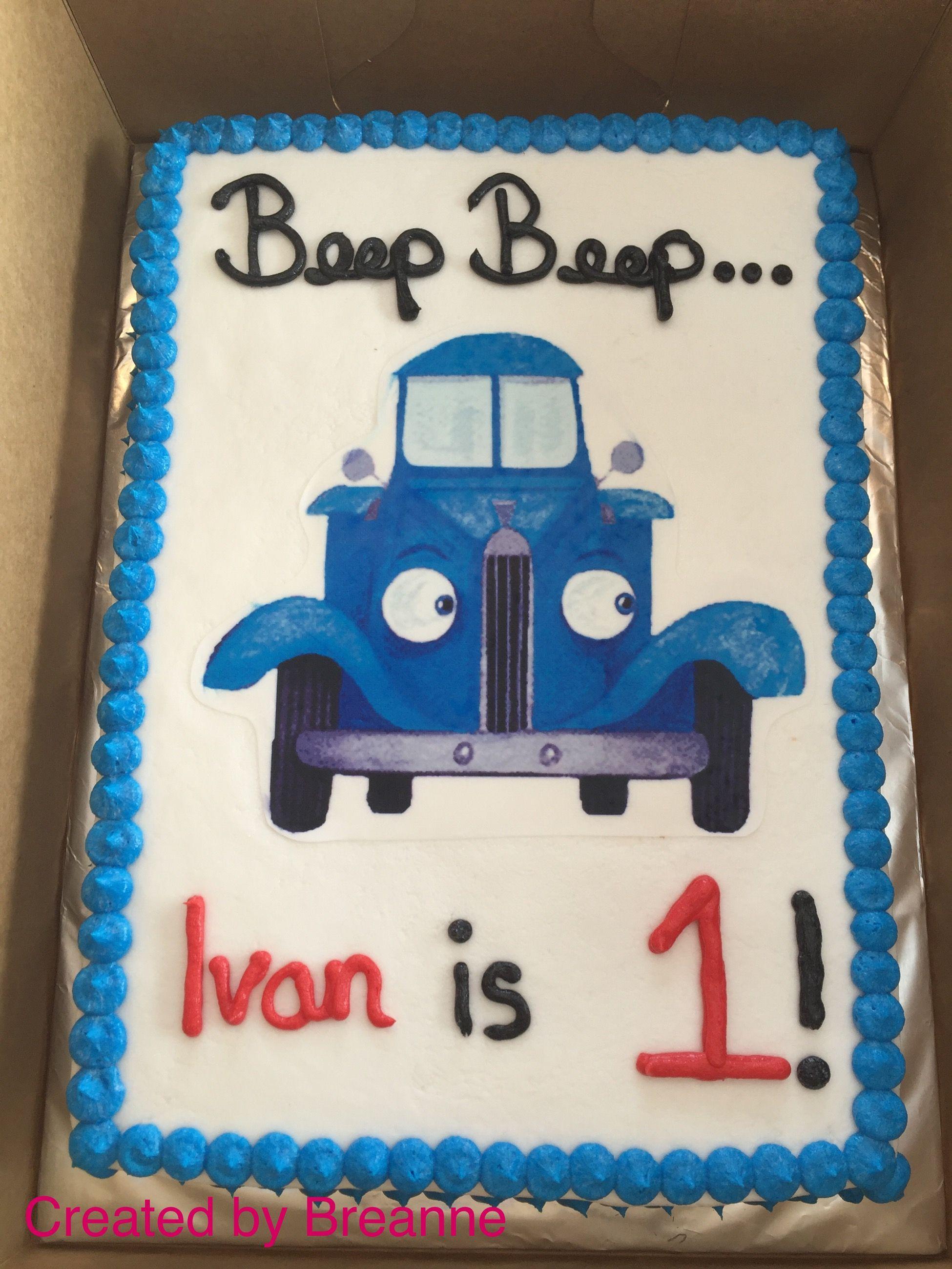Little Blue Truck Sheet Cake Trucks Birthday Party Truck