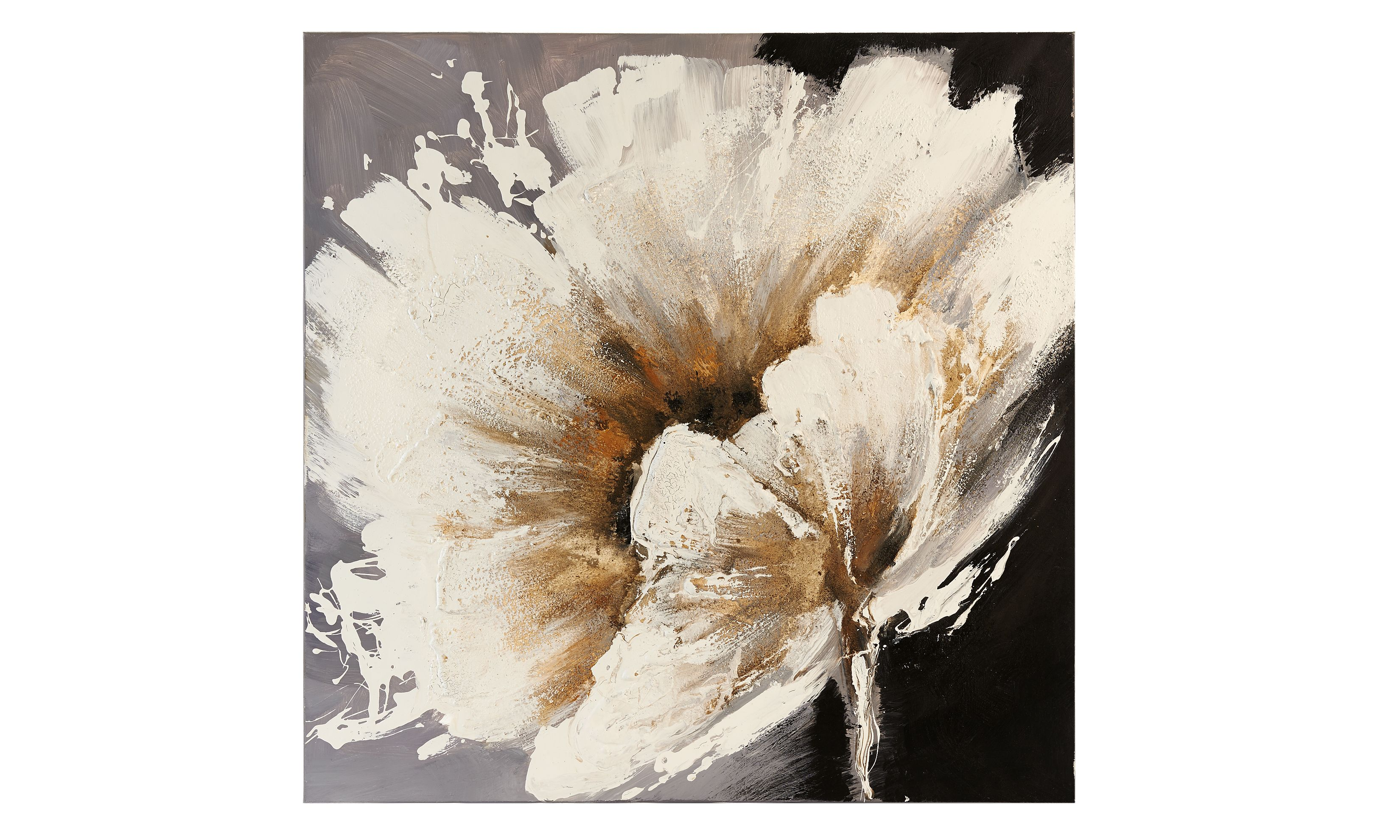 Large White Flower Stretched Canvas Oil Painting Flower Painting Flower Painting Canvas Large Art Prints