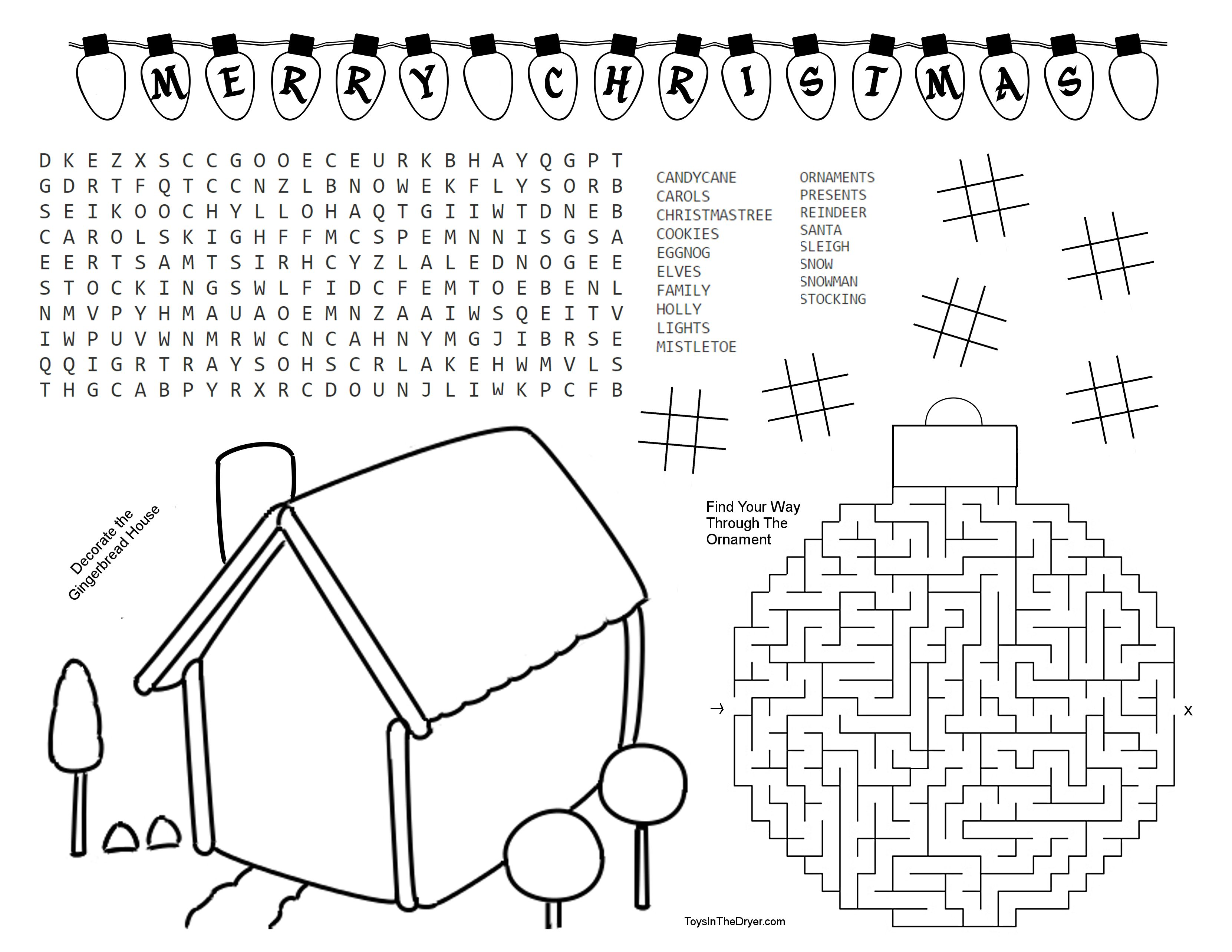 Free Christmas Activity Printable Includes A Word Search