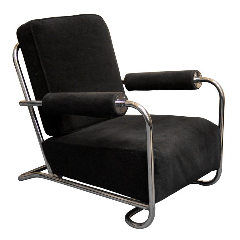 Gilbert Rohde Art Deco Machine Age Lounge Chair 1930u0027s| From A Unique  Collection Of Antique