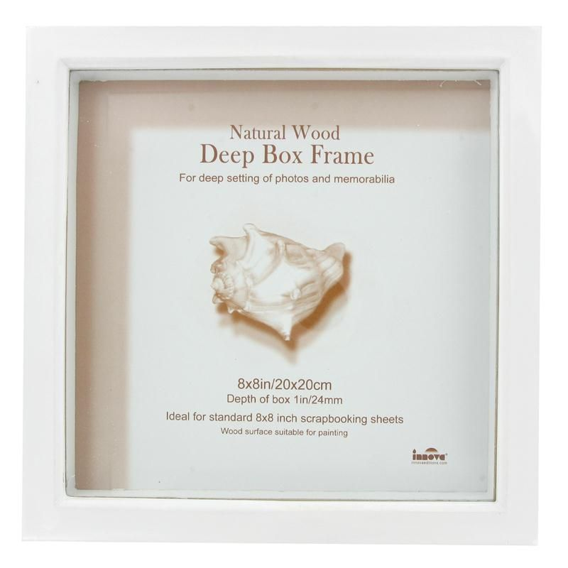 Innova White Box Frame 20 X 20 Cm | Hobbycraft | Black room ...
