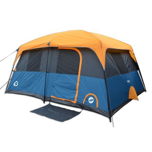 Discovery Adventures 10-Person Instant Cabin Tent  sc 1 st  Pinterest & Discovery Adventures Instant 10 Person Cabin Tent Orange/Navy ...