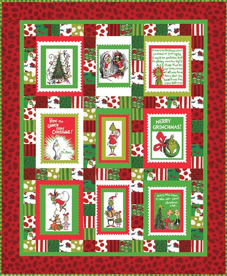 Merry Grinchmas panel quilt pattern | Dr. Seuss fabric projects ... : dr seuss quilt fabric - Adamdwight.com