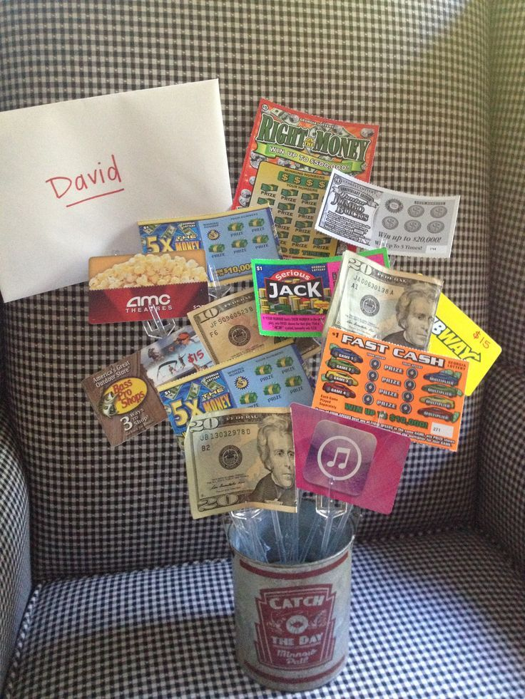 Teen #boys birthday gift idea... gift cards, lotto tickets and ...