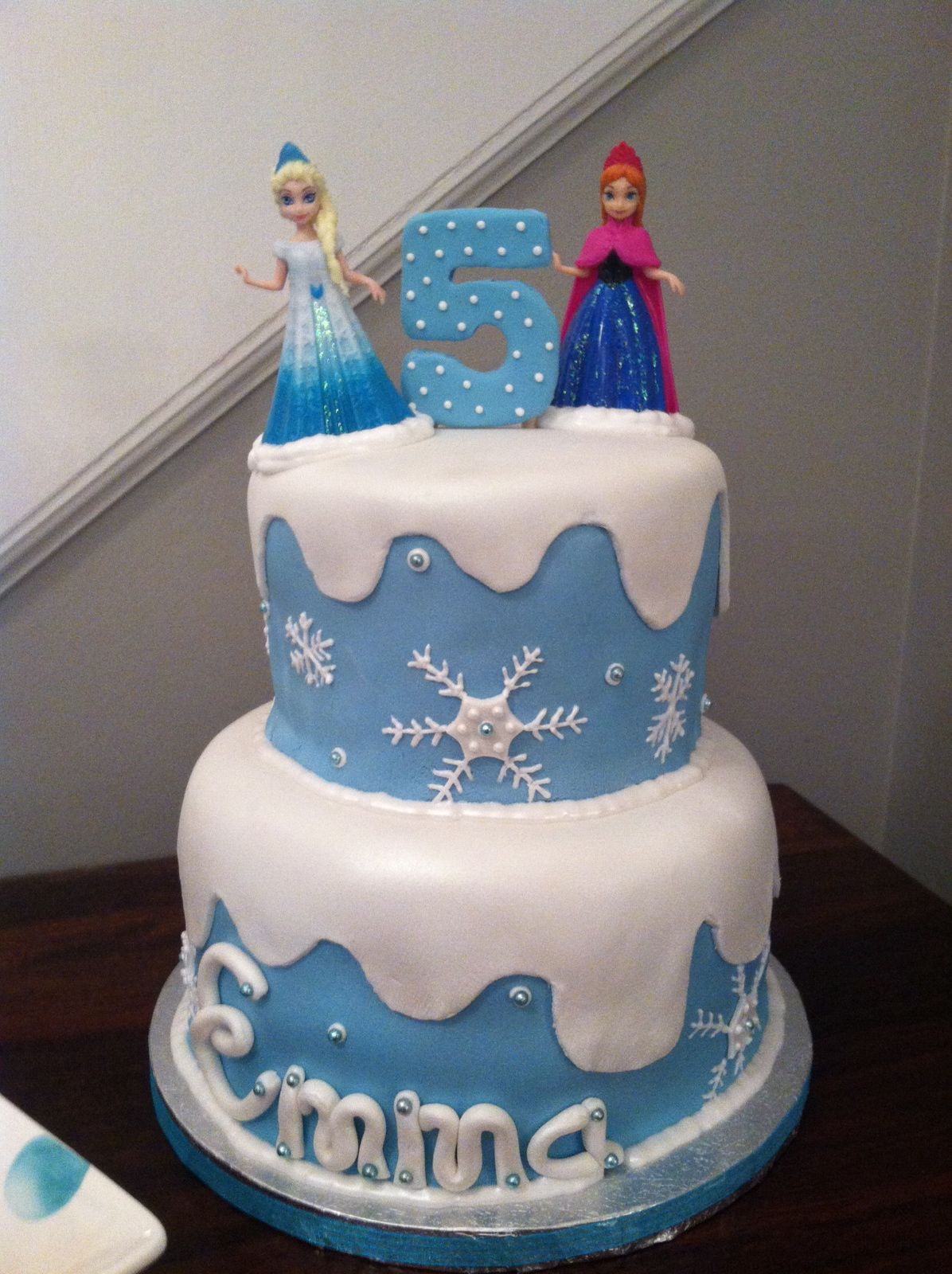 Frozen Cake Elsa and Ana Cake Kid Party Ideas Pinterest