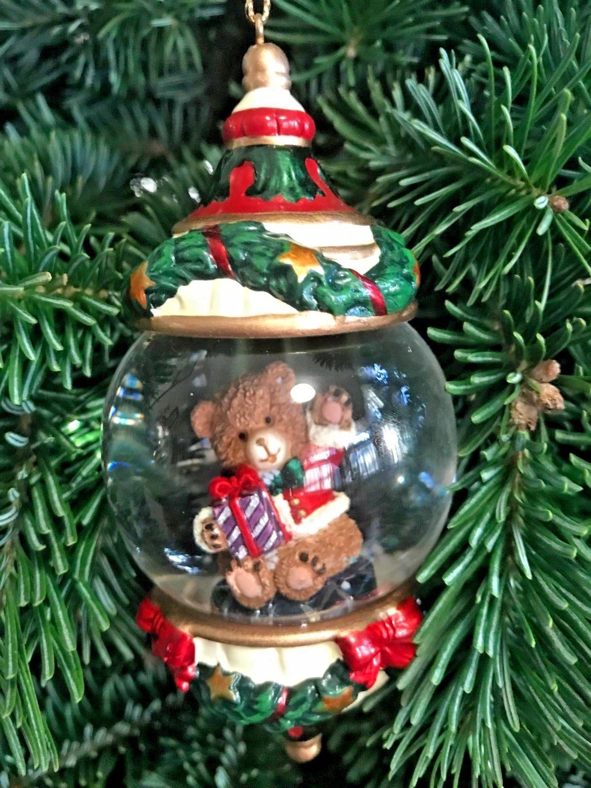 Costco Kirkland Signature Water Snow Globe Ornament Christmas Tree Glass Ebay Globe Ornament Christmas Tree Ornaments Christmas Ornaments