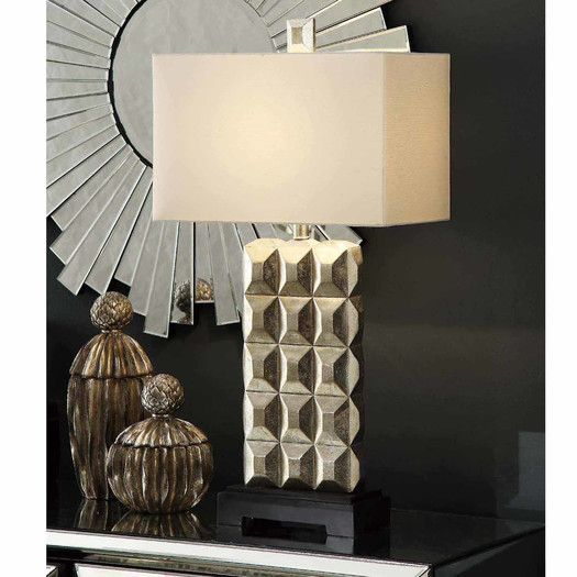 Crestview Bennett 33 H Table Lamp With Rectangular Shade Rustic Table Lamps Modern Table Lamp Lamp
