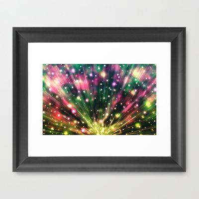 Brilliantm Fireworks Framed Art Print by Nirvana.K | Society6