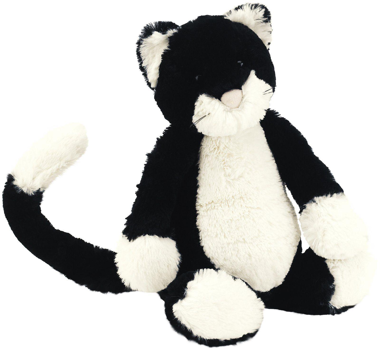 Jellycat Bashful Black And White Kitten Medium Free Shipping Jellycat Stuffed Animals Black And White Kittens Baby Toys Newborn