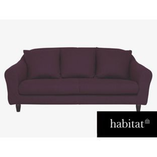 Nice Habitat Emlyn 3 Seat Sofa   Beetroot Purple From Homebase.co.uk Awesome Design