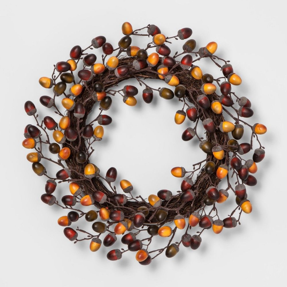 Lloyd and Hannah wreath dried acorn-brown//yellow//red