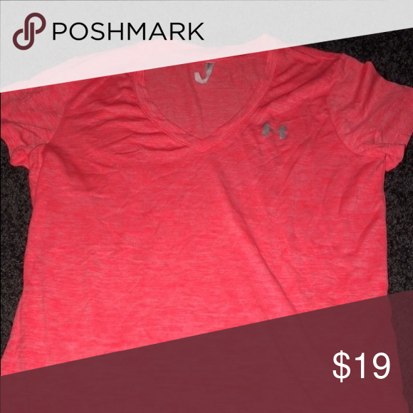 Underarmour Women S T Shirt Coral Color Cooling Tshirt Under