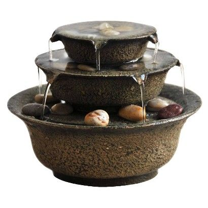 Target Homedics Envirascape Serenity Bowl Relaxation Fountain Brown Small Image Zoom