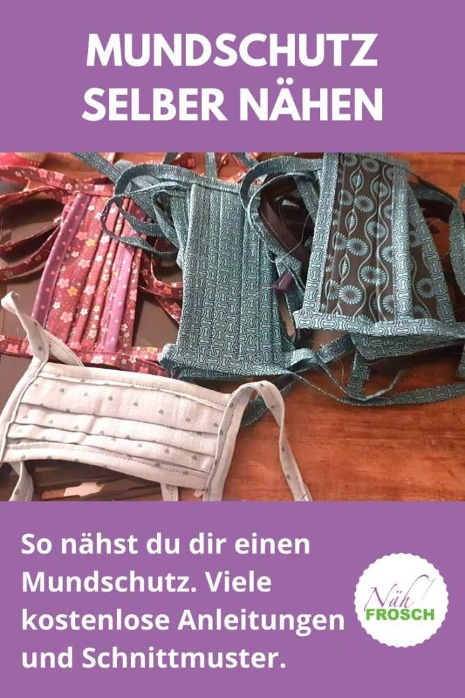 Mundschutz selber nähen: Kostenlose Anleitungen zum Atemschutzmasken nähen #freebookschnittmuster
