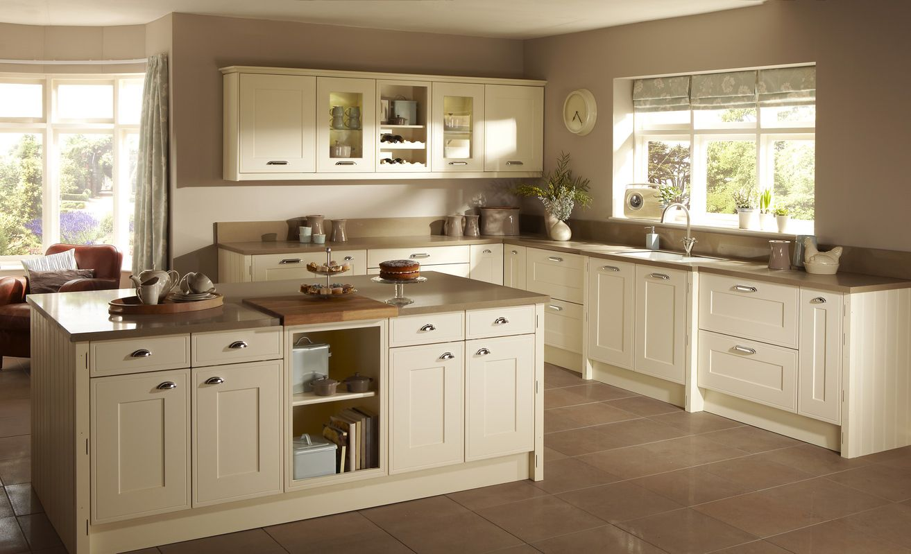 L Form Kitchen Structure Concepts Shaker Style Kitchen Cabinets Beige Kitchen Shaker Kitchen Design