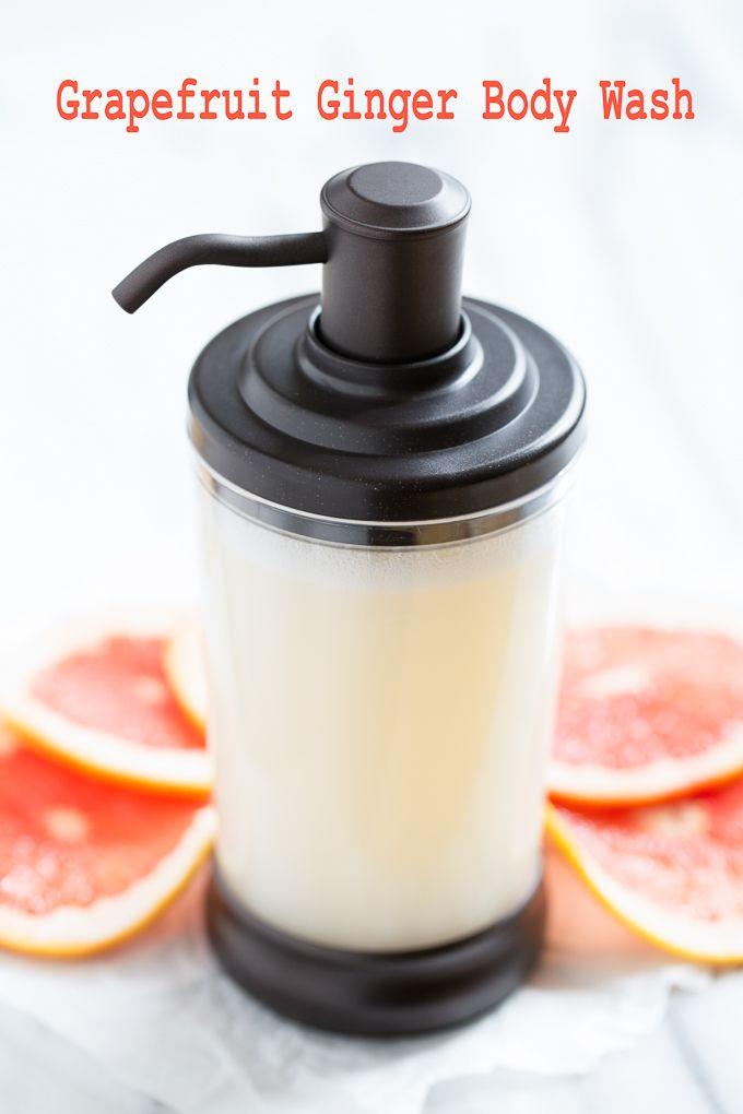 Grapefruit Ginger Body Wash Recipe Diy Bathroom