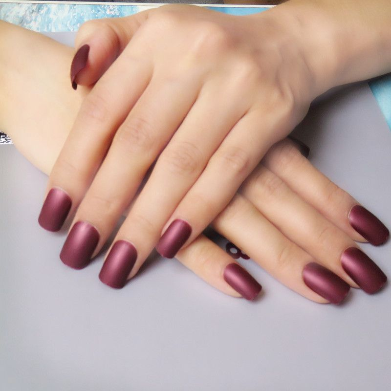 Click Image to Buy> 12 Color Options Matte Acrylic False Nails Tips ...