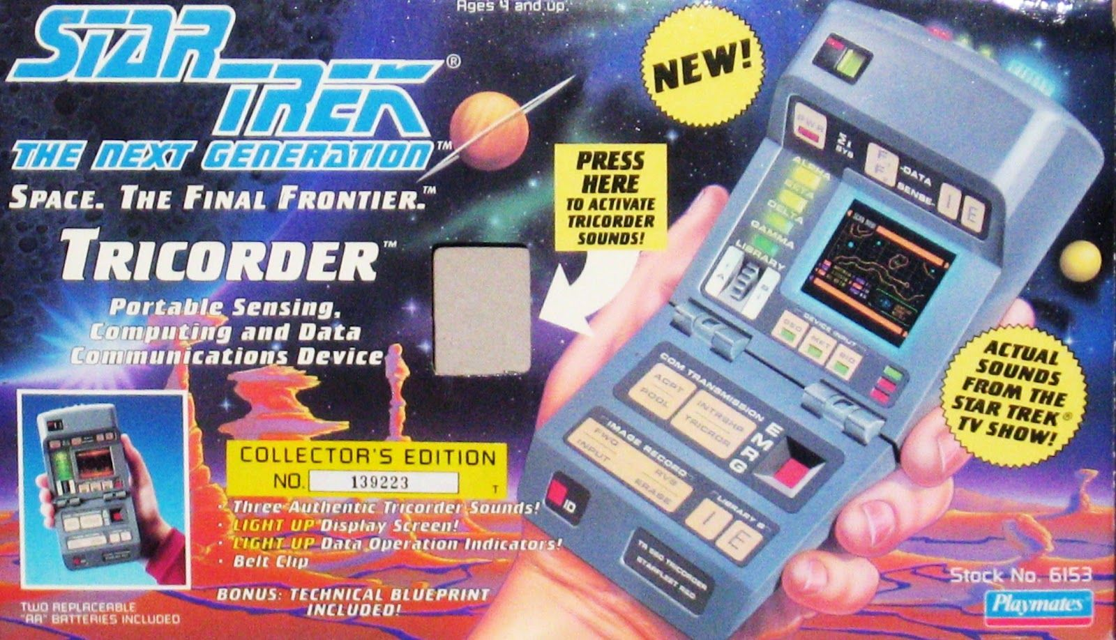 Star Trek: TNG Tricorder toy - This is probably #1 on my list of toys I want to reclaim (probably on eBay).  Really miss this one.  :(