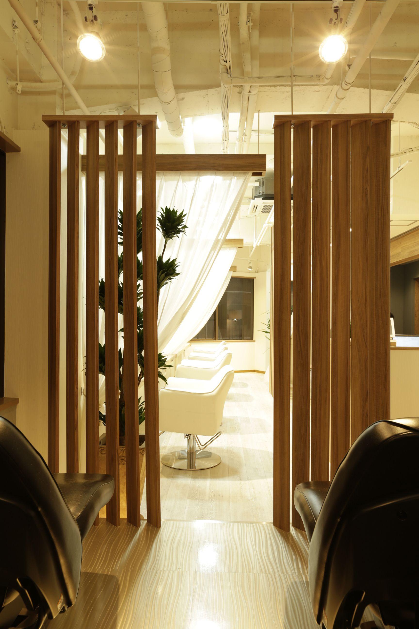 beauty salon interior design ideas shampoo lights space decor japan