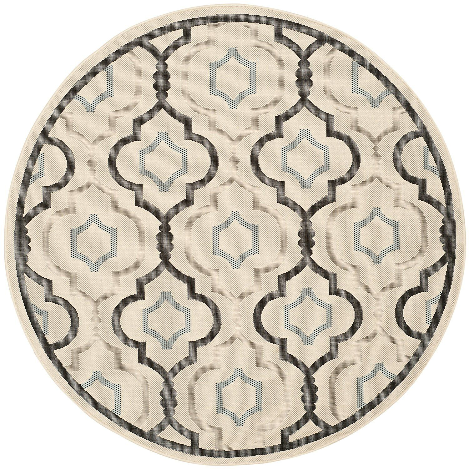 "Amazon.com: Safavieh Courtyard Collection CY7938-256A1 Beige and Black Indoor/ Outdoor Area Rug, 2 feet by 3 feet 7 inches (2' x 3'7""): Kitchen & Dining"