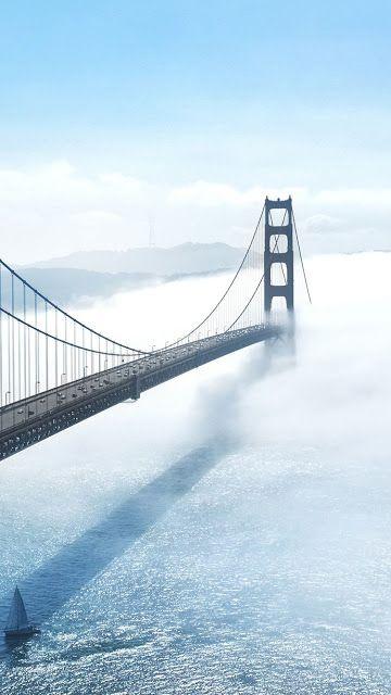 خلفيات ايفون مثالية لاجهزة ايفون 7 Iphone 7 Wallpapers مداد الجليد Lake Boat Landscape Photography Golden Gate Bridge