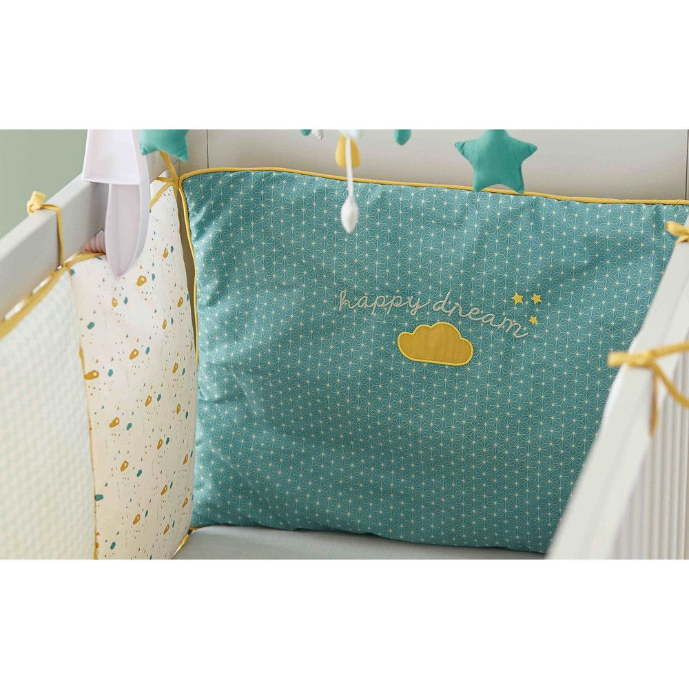 tour de lit bébé maison du monde Tour de lit bébé en coton jaune/vert 45 x 180 cm | Pinterest  tour de lit bébé maison du monde