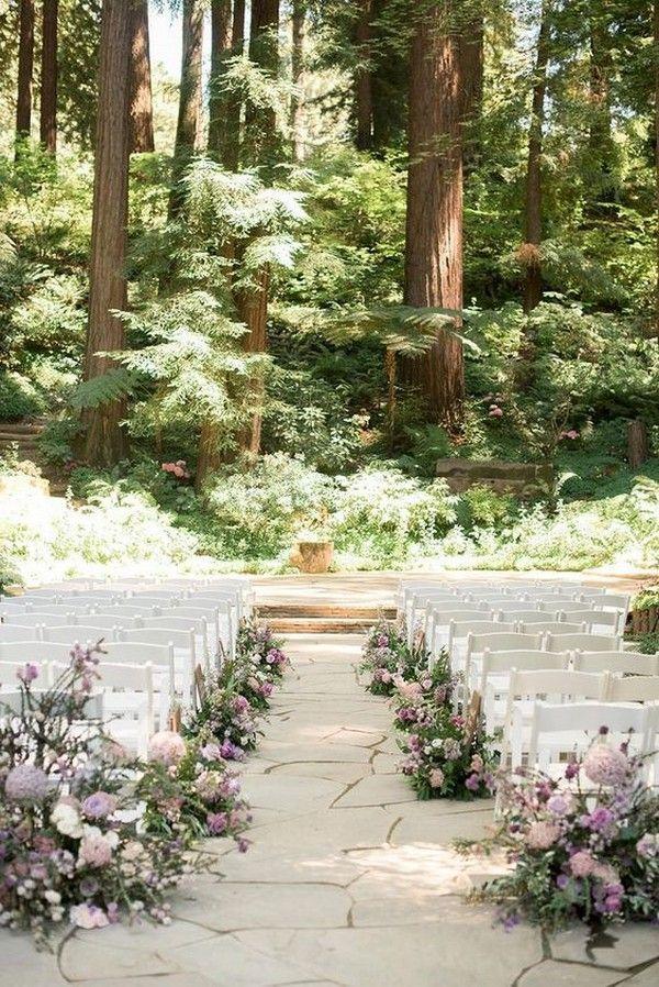 2019 Trending-20 Woodland Forest Wedding Ceremony Decoration Ideas