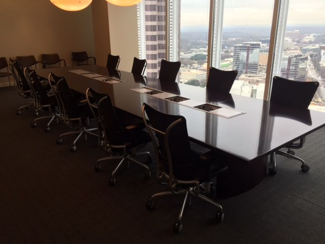 Gunlocke Used Conference Table Finish Is Expresso Wood Veneer - 18 ft conference table