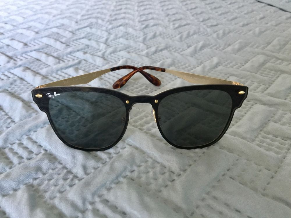189337d63 Ray-Ban Blaze Clubmaster RB3576N 043/71Gold Frame Green Classic Lens # fashion #clothing #shoes #accessories #unisexclothingshoesaccs  #unisexaccessories ...